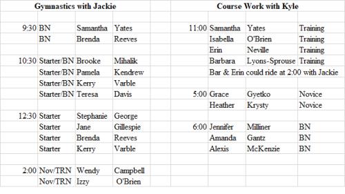 July 12 schedule